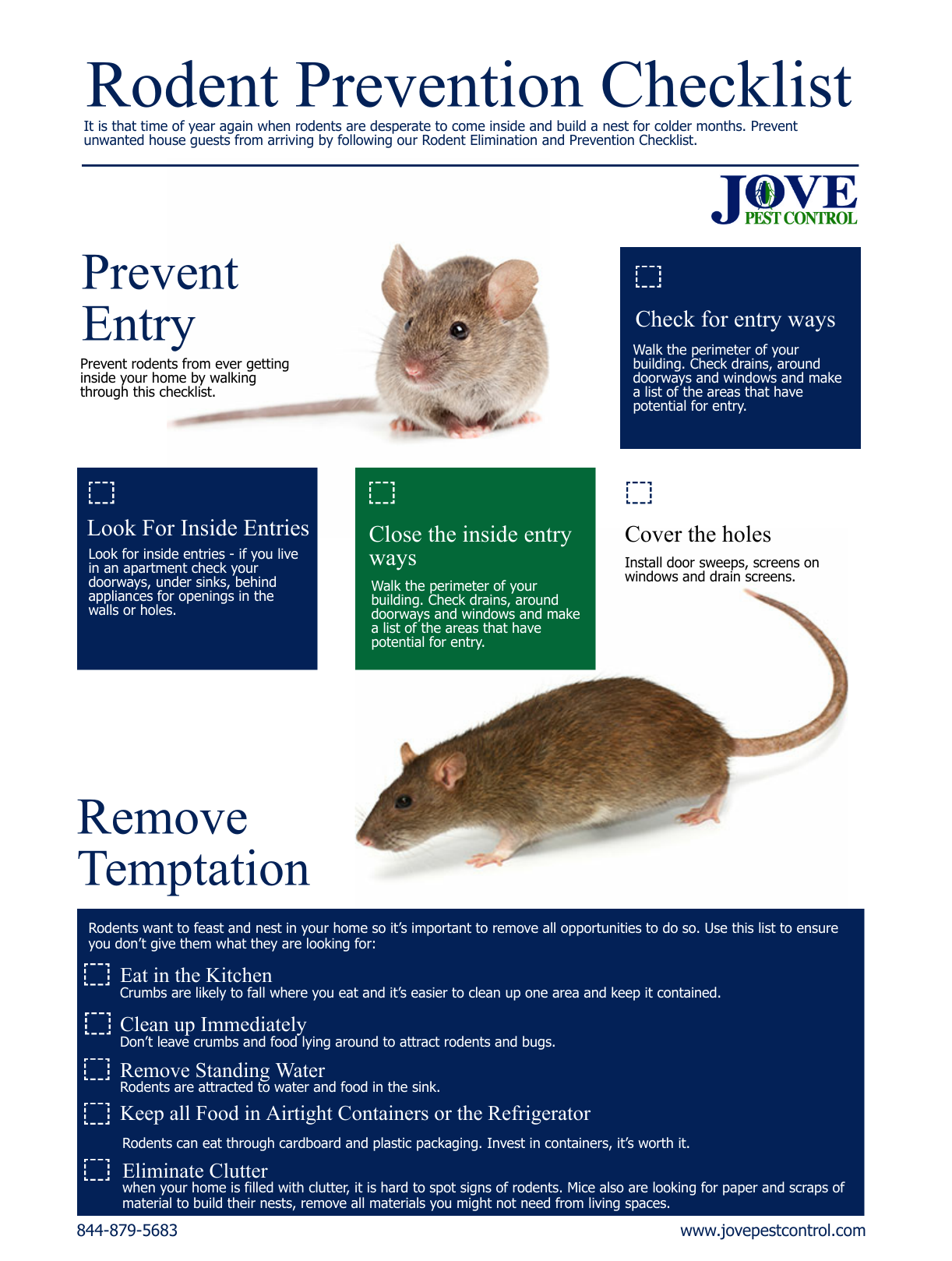 Rodent Prevention Checklist